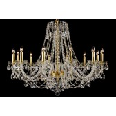 Bohemian BCC12XLG Gold Crystal Chandelier - 12-Light