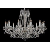 Bohemian BCC12XLS Silver Crystal Chandelier - 12-Light