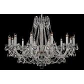 Bohemian BCC12XLS Silver Crystal Chandelier - 12-Light
