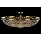 Bohemian BCC15A Golden Basket Crystal Chandelier - 15-Light