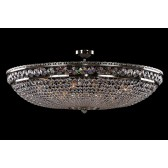 Bohemian BCC15AS Silver Basket Crystal Chandelier - 15-Light