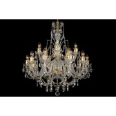 Bohemian BCC15DG Gold Crystal Chandelier - 15-Light