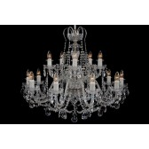 Bohemian BCC15KS Silver Crystal Chandelier - 15-Light