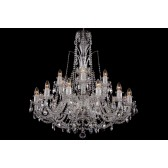 Bohemian BCC18DS Neutral Crystal Chandelier - 18-Light