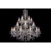 Bohemian BCC24DS Colourless Crystal Chandelier - 24-Light