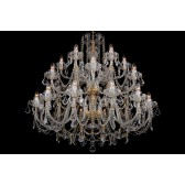 Bohemian BCC24SPS Silver Crystal Chandelier with Swarovski Trimmings - 24-Light