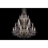 Bohemian BCC30XL Clear Crystal Chandelier - 30-Light