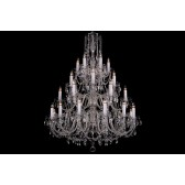 Bohemian BCC30XLS Clear Crystal Chandelier - 30-Light