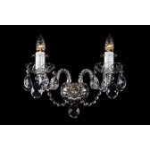 Bohemian W-02S Neutral Crystal Wall Light - 2-Light