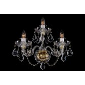 Bohemian W-03SE Clear Crystal Wall Light with Swarovski Trimmings - 3-Light