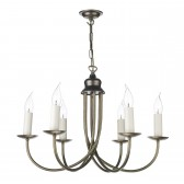 Bermuda Ceiling Light - 6 Light Aged Brass