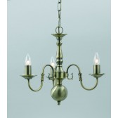 Impex Flemish Chandelier - 3 Light, Antique Brass
