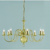 Impex Flemish Chandelier Polished Brass - 8 Light