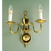 Impex Ghent Wall Light Cast Brass - 2 Light