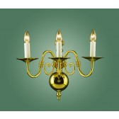 Impex Antwerp Wall Light Brass - 3 Light