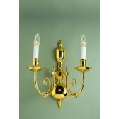 Impex Beveren Wall Light Brass - 2 Light