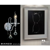 Diyas Bianco Crystal Wall 1 Light Chrome