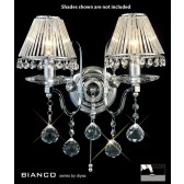Diyas Bianco Crystal Wall 2 Light Chrome