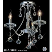 Diyas Bianco Crystal Ceiling 3 Light Chrome