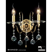 Diyas Bianco Crystal Wall 2 Light Gold Plated