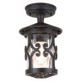 Elstead BL13A BLACK Hereford Ridgid tube Lantern
