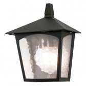 Elstead BL15 BLACK York Flush Light Lantern