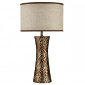 Bokara Table Lamp - Bronze, Complete with Shade