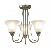 Boston Ceiling Light - 3 Light Antique Brass