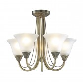 Boston Ceiling Light - 5 Light Antique Brass