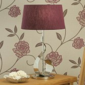 Interiors1900 Swarf Table Lamp, Purple