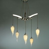 Interiors1900 Starfish 5-Light Art Glass Chandelier