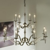 Interiors1900 Stanford Nickel 12-Light Chandelier