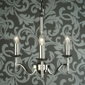 Interiors1900 Stanford Nickel 3-Light Chandelier