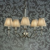 Interiors1900 Stanford Nickel 5-Light Chandelier, Beige