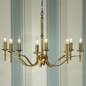 Interiors1900 Stanford Brass 8-Light Chandelier