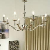 Interiors1900 Stanford Nickel 8-Light Chandelier