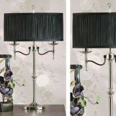 Interiors1900 Stanford Nickel Table Lamp, Black