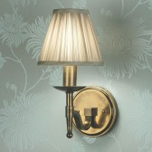 Interiors1900 Stanford Brass Single Wall Light, Beige