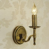 Interiors1900 Stanford Single Light Brass Wall Light