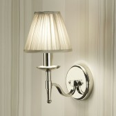 Interiors1900 Stanford Nickel Single Wall Light, Beige