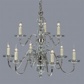 Interiors1900 Tilburg Nickel 9-Light Chandelier