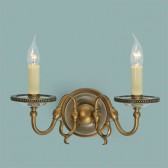 Interiors1900 Tilburg Antique Brass Double Wall Light