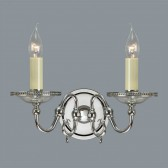 Interiors1900 Tilburg Nickel Double Wall Light