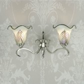 Interiors1900 Columbia Nickel Double Wall Light, White