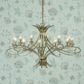 Interiors1900 Penn 12-Light Chandelier, Brushed Brass