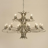 Interiors1900 Penn Chandelier 18-Light Brushed Brass
