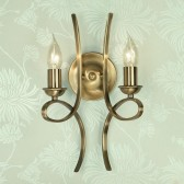 Interiors1900 Penn Brushed Brass Double Wall Light