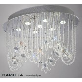 Diyas Camilla Ceiling 7 Light Polished Chrome/Crystal