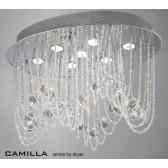 Diyas Camilla Ceiling 7 Light Polished Chrome/Crystal