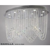 Diyas Camilla Ceiling 12 Light Polished Chrome/Crystal